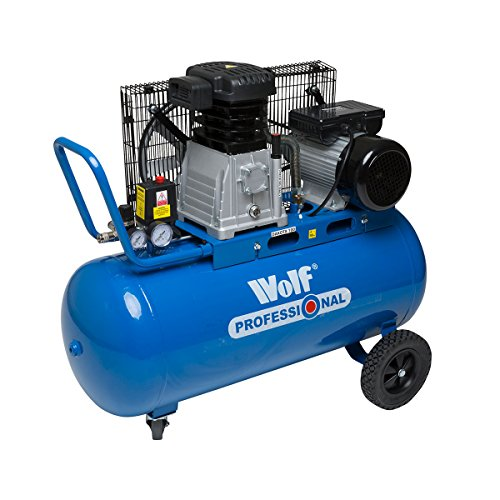 Wolf Dakota 90L Air Compressor 3HP 14CFM 230V 150psi 10BAR Twin Cylinder + 3pc Tool & 13pc Spray Kit
