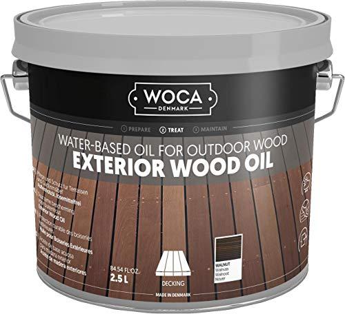 WOCA 617962A Exterior Öl, Walnuss 2,5 L