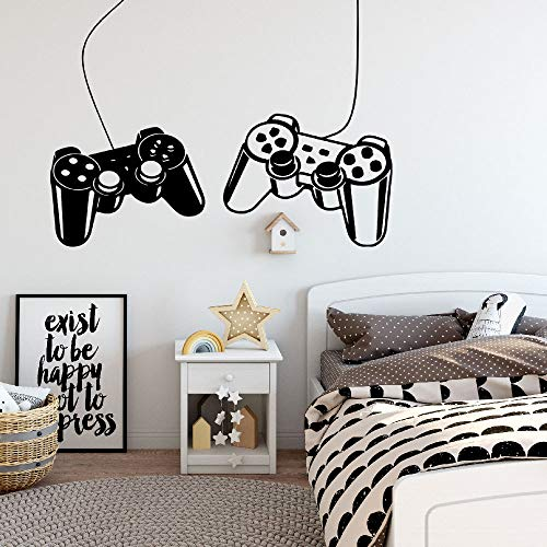 Game Wall Stickers for Bedroom Gamer Vinyl Art Wall Decals for Living...