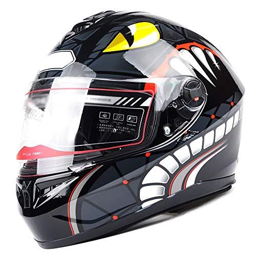 Casque Integral Moto pour Hommes Et Femmes Casque Moto Modulable Intégra Lentille Portable HD Transparente Bonne Ventilation Casque De Motocross pour Homme Femme avec Col Amovible