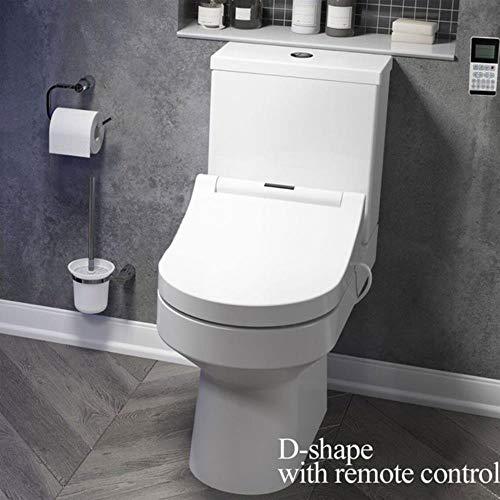 LED-toiletverlichting Smart langwerpige U-toiletbril Elektrische bidethoes verwarmde led-lamp wassen droge massage vrouw kinderen oud, D-vorm met afstandsbediening, Spanje