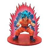 RZSY Dragon Ball Kaioken Blue Hair Son Goku Adorno De Escritorio Figura De Acción Estatua De Persona...