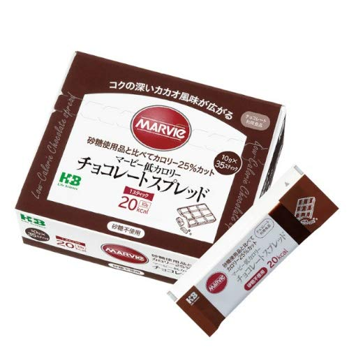 H+Bライフサイエンス マービー 低カロリー チョコレートスプレッド スティック 35本入