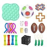 Horypt Stress Relief Fidget Toy Set De 22, Juguetes Portátiles para Apretar Mano Push Pop Bolas Sensoriales Fidget para Fortalecer Facilidad Emocional para Lanzar, Atrapar Juegos, Autismo