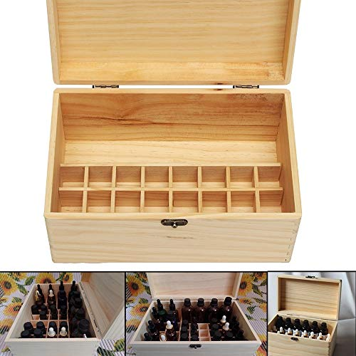 Blusea 32 sleuven etherische olie aroma's houten kist bewaarkoffer organizer aromatherapie met handvat