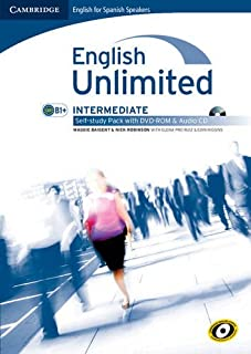 English unlimited for spanish speakers intermediate self-study pack (workbook with dvd-rom and audio cd)