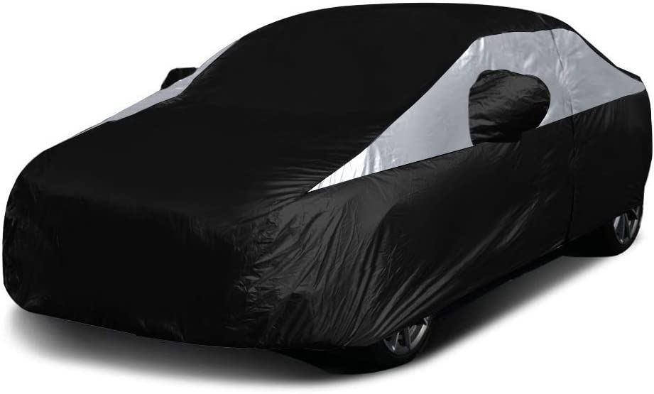 Titan Lightweight Safety and trust Car Cover. Compact Sedan Black Compatib . Jet New Free Shipping