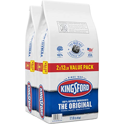 Kingsford Original Charcoal Briquettes, Two 12 Pound Bags