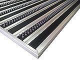 Sistema de entrada de aluminio profesional HD40, tamaño 110 x 68 cm, para instalación empotrada en la esterilla, incluyendo el marco Matwell, negro
