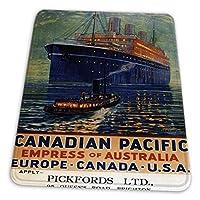 マウスパッド ゲーミングマウスパッド-オーストラリア太平洋ライナー船のカナダ太平洋皇后ヴィンテージ広告滑り止め デスクマット 水洗い 25x30cm