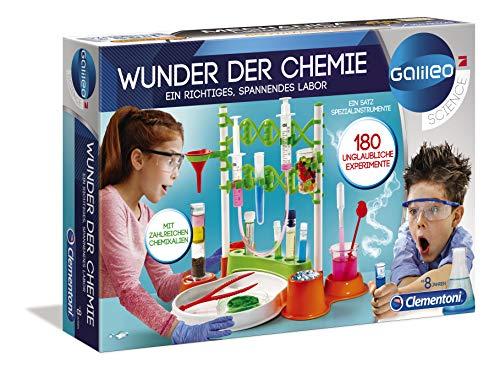 Clementoni 59187 Galileo Science - Wunder der Chemie, 180 Experimente für Zuhause, spannende Versuche,...