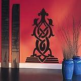 WANDTATTOO / Wandsticker w294 Ornament, Orient Wandaufkleber 96x57 cm weiss