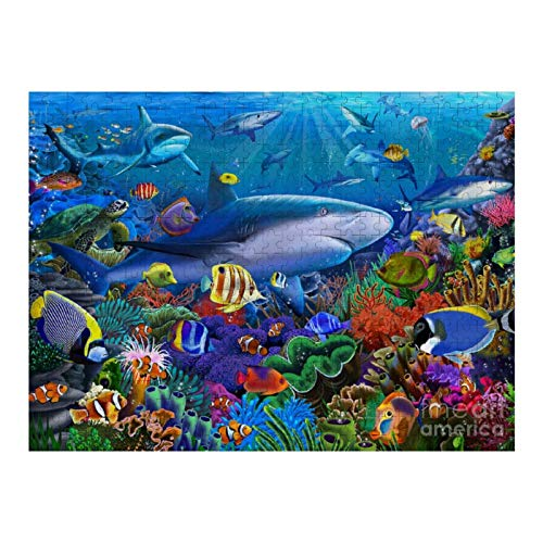 XIAOXINGXING 1000 Piezas Jigsaw Rompecabezas Puzzle Rompecabezas Arrecife de Tiburones Adultos y niños Juego de Rompecabezas