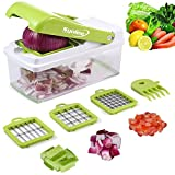 Vegetable Chopper Veggie Fruit Dicer – Syolee Food Cutter with 3 Interchangeable Blades