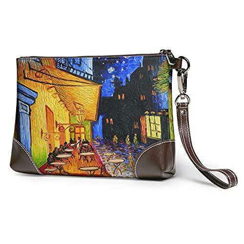 MGBWAPS Nacht-Cafe Terasse Clutch, Leder Clutch, Geldbörse, Kosmetiktasche, Clutch Handtasche, (siehe abbildung), Einheitsgröße