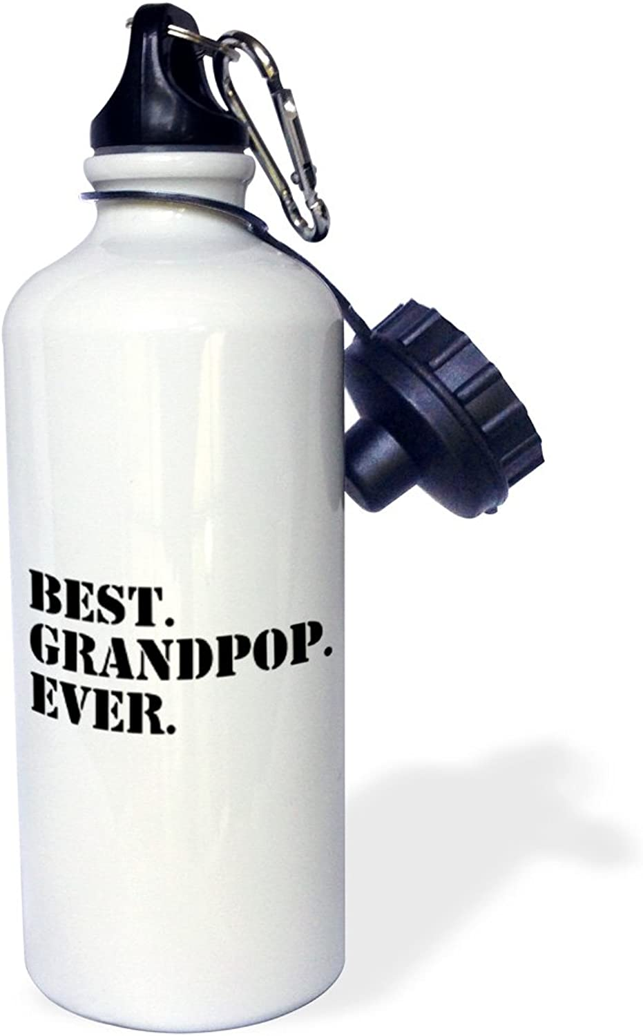 3dpink wb_151518_1 Best Grandpop EverGifts for GrandfathersGranddad Grandpa nicknamesblack textfamily gifts  Sports Water Bottle, 21 oz, White