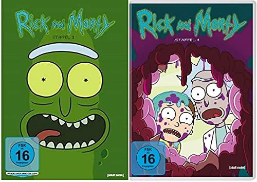 Rick & Morty Staffel 3+4 [DVD Set]