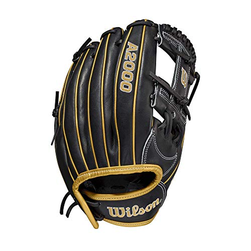 """Wilson A2000 Fastpitch 1175 - Right Hand Throw,11.75"""""""",Black, Large"""