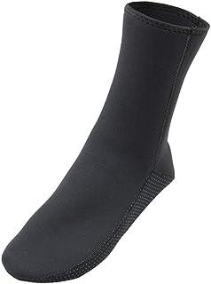FENICAL, 1 par de Calcetines Antideslizantes para Buceo prácticos Calcetines de Playa Calcetines de natación para Snorkel para Exteriores - Talla s (Negro)