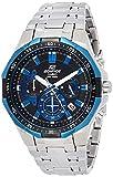 Casio EDIFICE Reloj en caja sólida, 10 BAR, Azul/Negro, para Hombre, con Correa de Acero inoxidable, EFR-554D-1A2VUEF