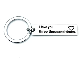 I Love You Three Thousand Times Keychain Boyfriend Girlfriend Anniversary Valentines Day Gift Keyring Wife Husband Christmas Gifts Mothers Fathers Day Present