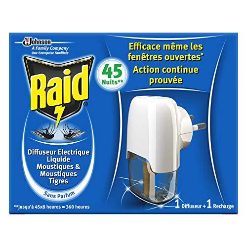 Raid Diffuseur Electrique Liquide Anti-moustiques 45 Nuits 27 ml - Lot de 3