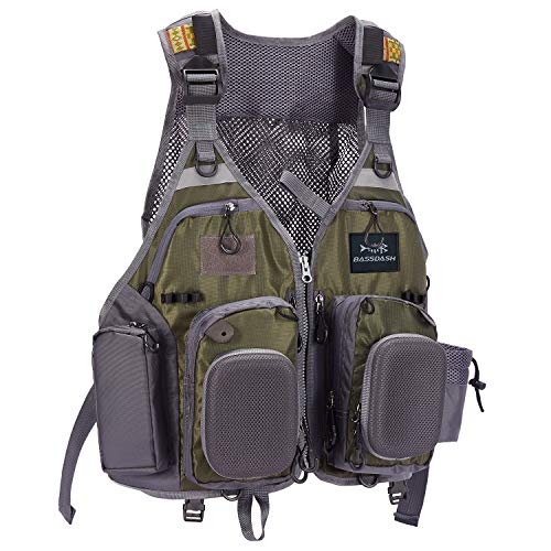 Bassdash Strap Fishing Vest Adjustable for Men and Women, for Fly Bass Fishing and Outdoor Activities