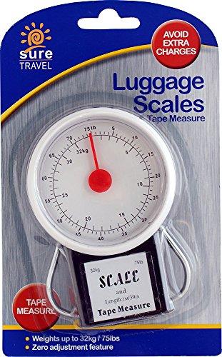 Zero Fonction de réglage Suitcase balance pour bagages Mètre à ruban Lot de 3