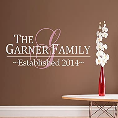 Family Wall Decal Vinyl Family Wall Quote Personalized Family Name Wall Sticker Words Wall Graphic Home Art Decoration