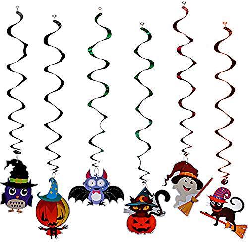 THE TWIDDLERS 36 Decorazioni da soffitto a Tema Halloween - 6 Modelli Diversi - Perfette per Feste e celebrazioni di Halloween