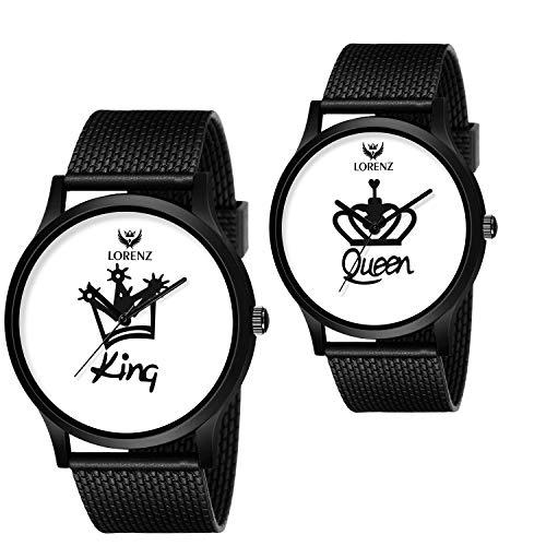 Lorenz King - Queen Couple Watch Combo- AM-5A