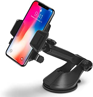 Spigen Kuel AP12T OneTap Car Phone Mount Universal Car Phone Holder with OneTap Technology for iPhone X / 8/8 Plus / 7/7 Plus / 6S / 6S Plus/Galaxy Note 8 / S8 / S8 Plus / S7 Edge & More - Black