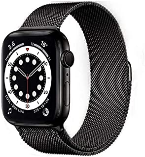 Compatible with Apple Watch Bands 42mm 44mm, Adjustable Stainless Steel Mesh Loop Bracelet Straps Wristbands for iWatch SE...