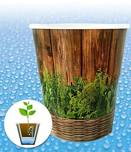 """Bewässerungssystem WaterWick® Topfsystem\""""Kräuter-Mix\"""", 1 Topf und Bewässerungsdocht"""