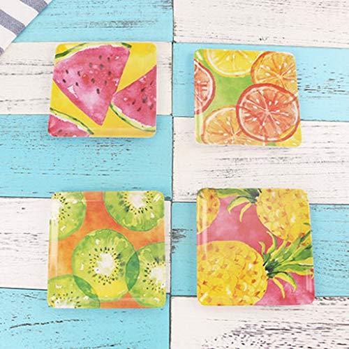 XIUXIU Assiette européenne pour collations de fruits résistant à la résine - Assiette de couverts ménagers pour enfants {4 Pack} (Color : H, Taille : 15x1.5cm)