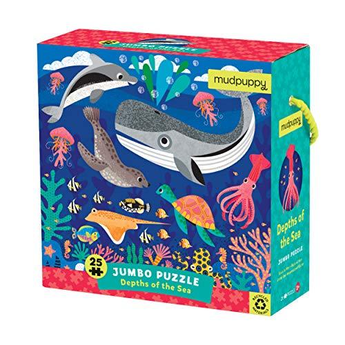 Mudpuppy Depths of The Sea Jumbo Puzzle, Multicolor, Floor Puzzle