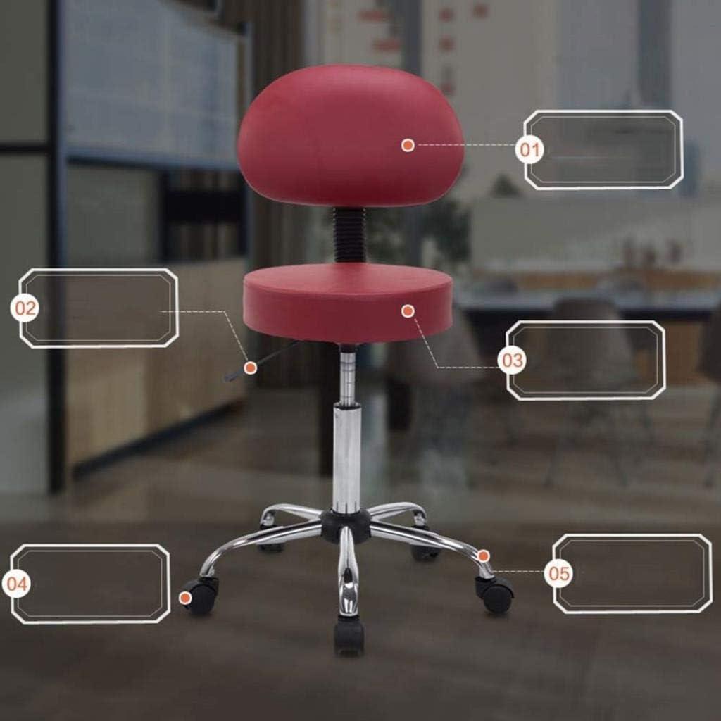 JXXDDQ Tabouret de Levage Tabouret de beauté Physiothérapie Massage Fauteuil à Ongles Tabouret de Coiffure Tabouret de Bureau Tabouret de Bureau (Color : A-Red) A-red