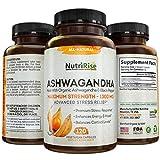 Ashwagandha 1300mg Made with Organic Ashwagandha Root Powder & Black Pepper...