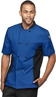 Men's Chef Coat with Mesh Side Panels (S-3X, 6 Colors)