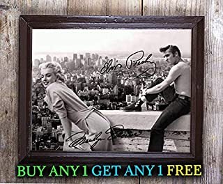 Elvis Presley & Marilyn Monroe Rooftop Autographed Signed Reprint 8x10 Photo #34 Special Unique Gifts Ideas for Him Her Best Friends Birthday Christmas Xmas Valentines Anniversary Fathers Mothers Day