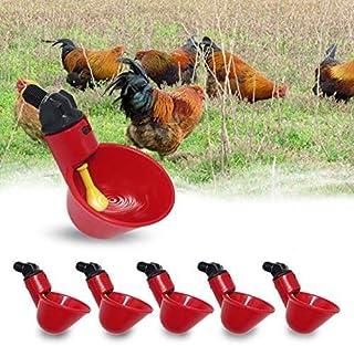 4 l,4L Mangiatoia per Pollo Bevitore Abbeveratoio per Bestiame Pollame Alimentatore in Plastica Automatico Alimentatore di Cibo Waterer Drinker con Maniglia per Pulcino Anatre 1,5 l 2,5 l