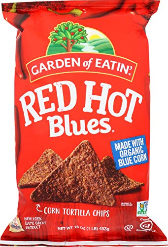 Garden of Eatin' Red Hot Blues Corn Tortilla Chips, 16 oz. (Packaging May Vary)