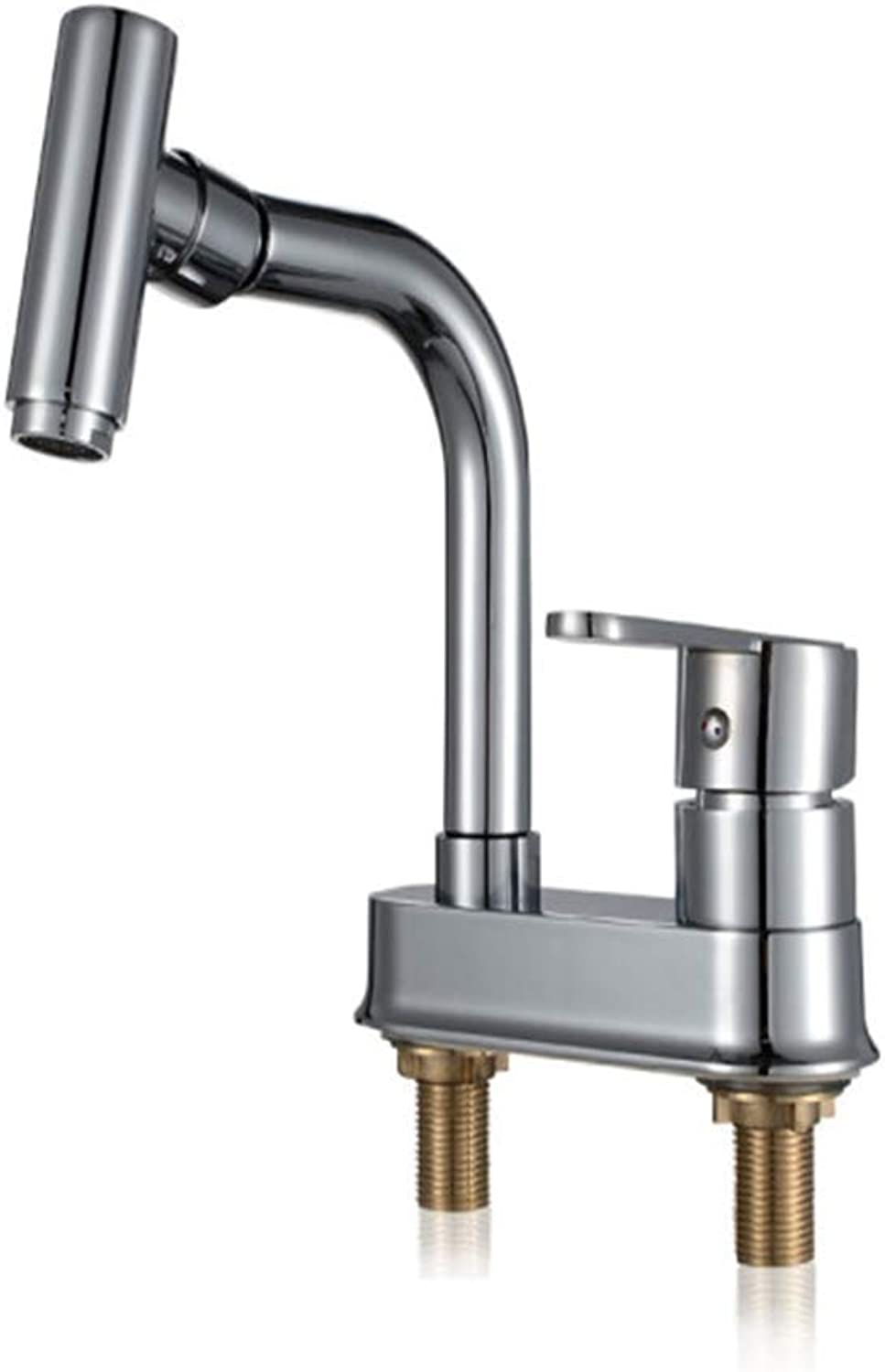 Kitchen Taps Faucet Modern Kitchen Sink Taps Stainless Steelbathroom Basin Faucet Cold and Hot Washbasin Faucet Toilet Double-Hole Three-Hole Faucet Washbasin Faucet Can redate
