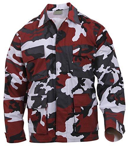 Rothco Camo BDU (Battle Dress Uniform) Military Shirts, Red Camo, L