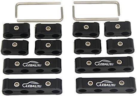 LEDAUT 12pc Engine Spark Plug Wire Separator Divider Suit for 8mm 9mm 10mm (Black)