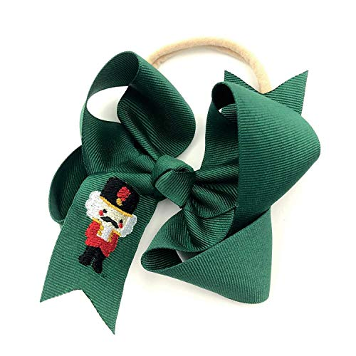 Nutcracker Christmas Headband for Baby Girl with Forest Green 5