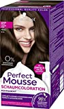 SCHWARZKOPF PERFECT MOUSSE Permanente Schaumcoloration 450 Warmes Braun Stufe 3, 3er Pack (3 x 92,5...