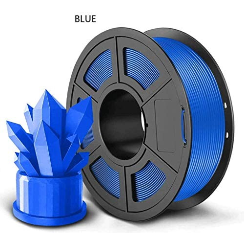 Lmn 3D Printing Filament PLA 3D Printer Filament 1.75mm Dimensional Accuracy +/-0.02mm 3D Printing Material, Used For 3D Printer And 3D Printing Pen, Multiple Colors 1KG (Color : Blue)
