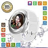 FENHOO Smartwatch SN05 Rotondo Smart Watch con slot per scheda SIM, Touch Screen Contapassi Musica Compatibile con Samsung Huawei Xiaomi Telefoni Android iOS iPhone per Uomo Donna Bambini (Bianco)