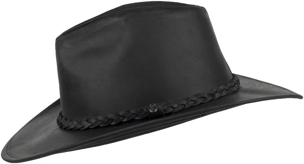 Jaxon /& James Chapeau de Cowboy en Cuir Buffalo Noir
